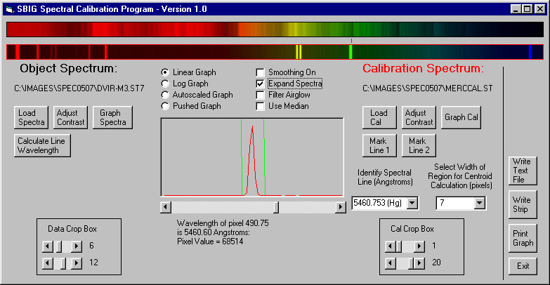 Spectograph Software